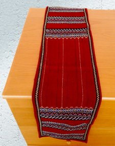 Maroon Red Table Runner
