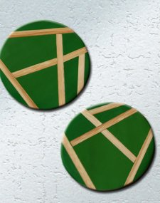 Bamboo Inlay Coasters