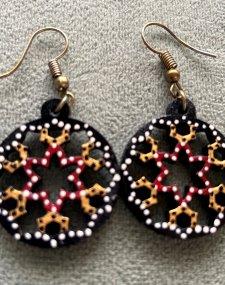 Lattice Wooden Earrings
