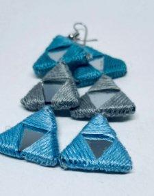 Mirror Thread Earrings