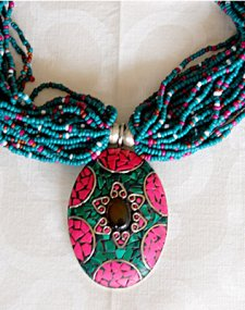 Beaded Mosaic Necklace