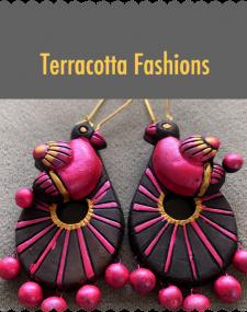 Terracotta Bird Earrings