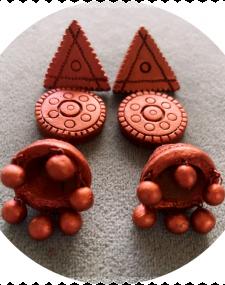 Terracotta Bronze Earrings