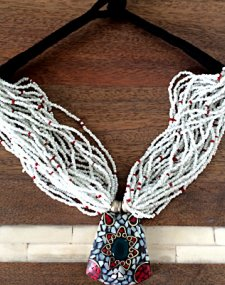 White Mosaic Necklace
